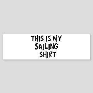 My Sailing Bumper Sticker