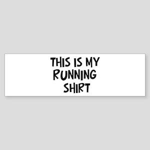 My Running Bumper Sticker
