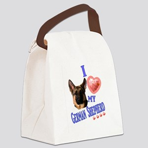 I love my German Shepherd 3 Canvas Lunch Bag