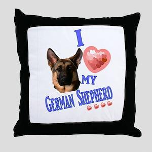 I love my German Shepherd 3 Throw Pillow