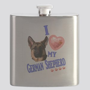 I love my German Shepherd 3 Flask