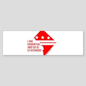 I AM ESSENTIAL-RED Bumper Sticker