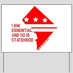 I AM ESSENTIAL-RED Yard Sign