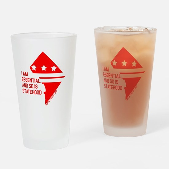 I AM ESSENTIAL-RED Drinking Glass