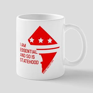 I AM ESSENTIAL-RED Mugs