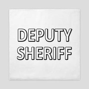 Deputy Sheriff - White Queen Duvet