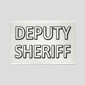 Deputy Sheriff - White Rectangle Magnet