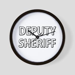 Deputy Sheriff - White Wall Clock