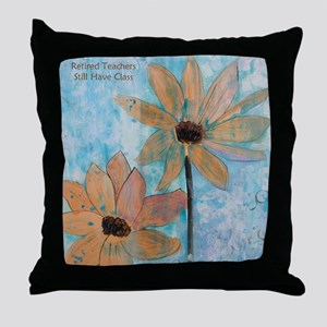 Retired Teachers Bright SIde Throw Pillow