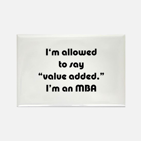Value Added MBA Rectangle Magnet