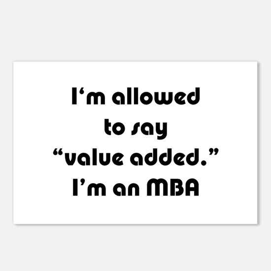 Value Added MBA Postcards (Package of 8)