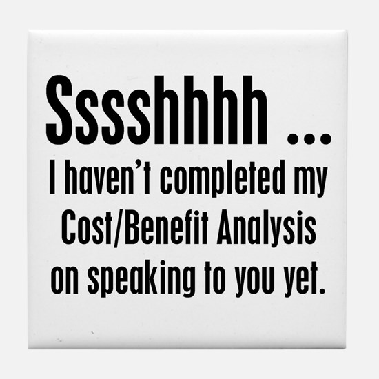 Cost Benefit Analysis Tile Coaster