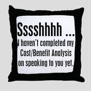 Cost Benefit Analysis Throw Pillow