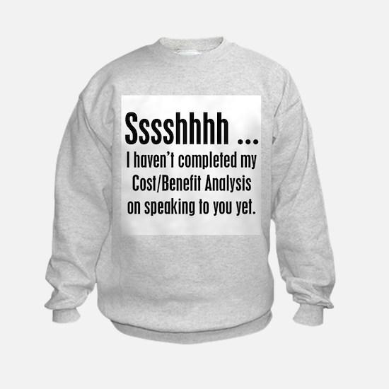 Cost Benefit Analysis Sweatshirt