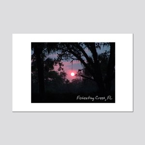 Fisheating Creek -Camp Sunset Mini Poster Print