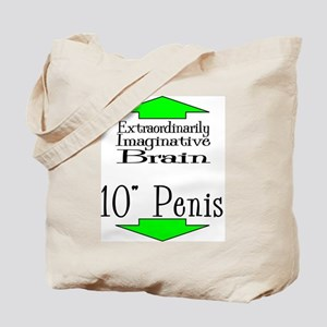 10 Inches and a Brain Tote Bag