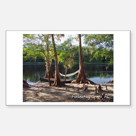 Fisheating Creek -Lazy Days Rectangle Decal