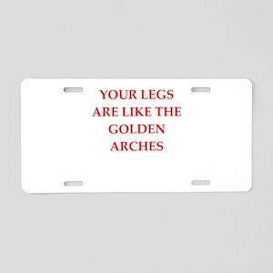 legs Aluminum License Plate