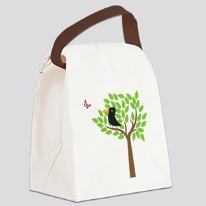 Crow In A Tree Canvas Lunch Bag