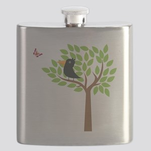 Crow In A Tree Flask