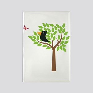 Crow In A Tree Rectangle Magnet