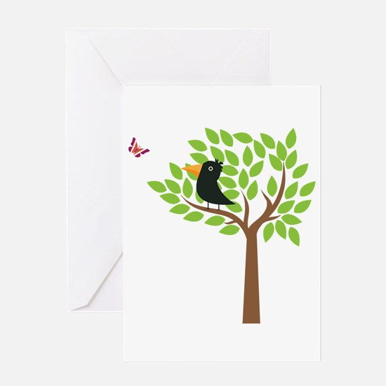 Crow In A Tree Greeting Card