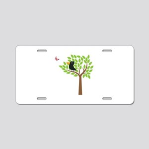 Crow In A Tree Aluminum License Plate