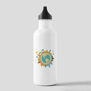 World Travel Landmarks Stainless Water Bottle 1.0L