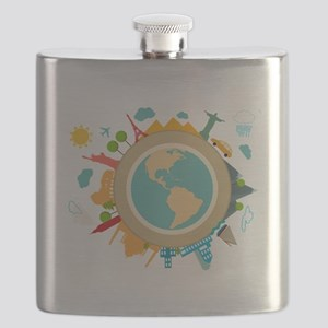 World Travel Landmarks Flask