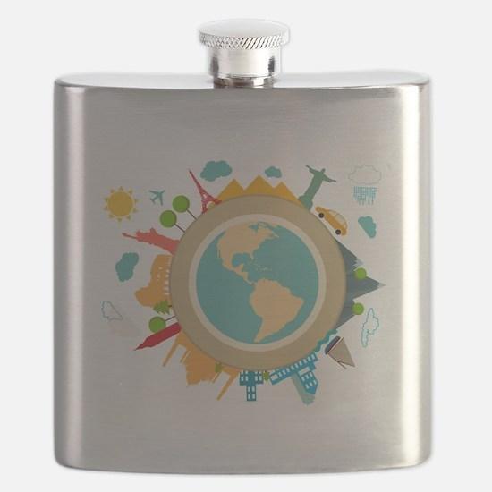 World Travel Landmarks Flask