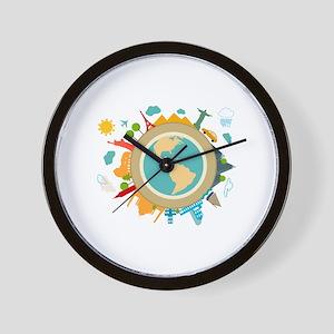 World Travel Landmarks Wall Clock
