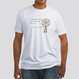 To touch the earth... Fitted T-Shirt