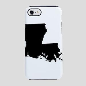Louisiana State Shape Outline iPhone 7 Tough Case