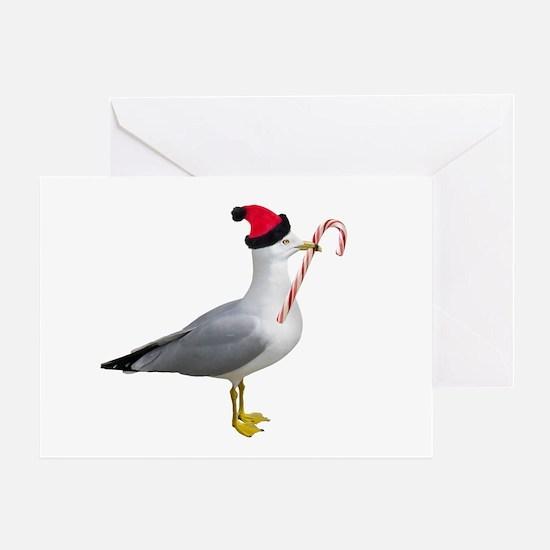 Santa Seagull Greeting Card