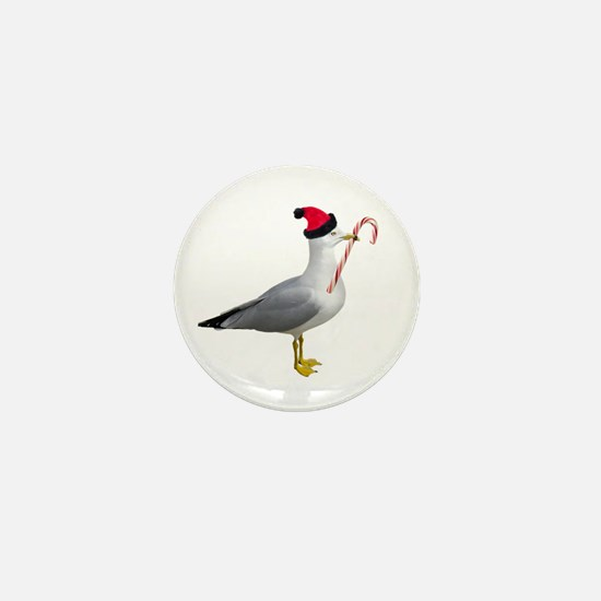 Santa Seagull Mini Button