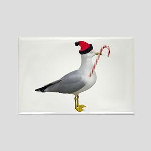 Santa Seagull Rectangle Magnet