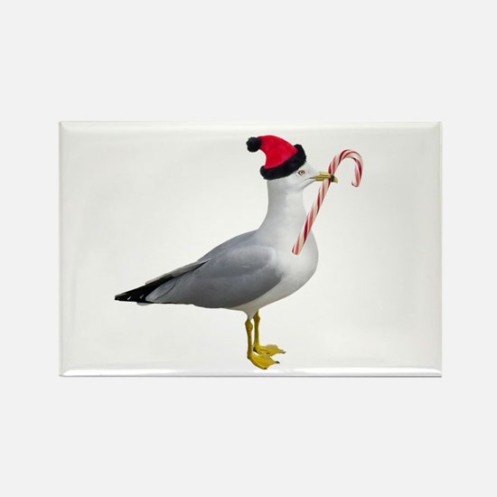 Santa Seagull Rectangle Magnet