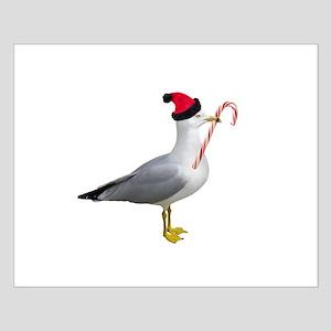 Santa Seagull Small Poster