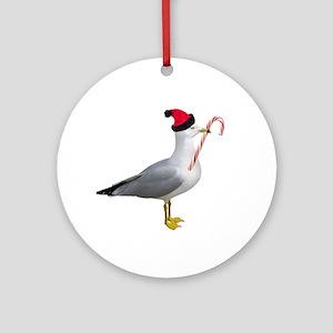 Santa Seagull Ornament (Round)
