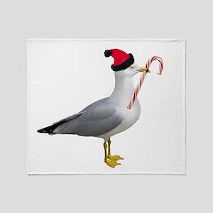 Santa Seagull Throw Blanket