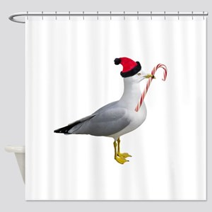Santa Seagull Shower Curtain