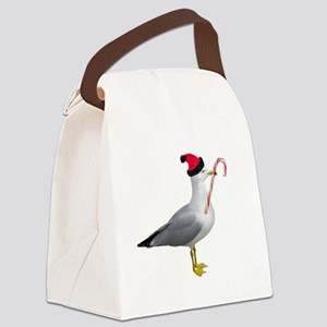 Santa Seagull Canvas Lunch Bag