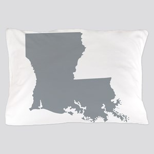 Louisiana State Shape Outline Pillow Case