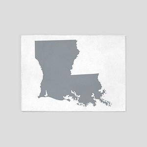 Louisiana State Shape Outline 5'x7'Area Rug