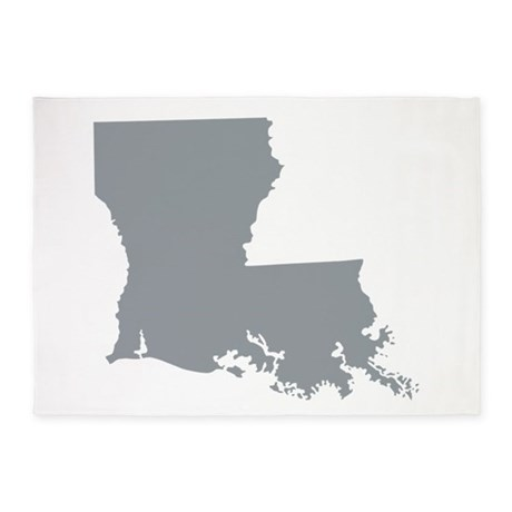 Louisiana State Shape Outline 5x7Area Rug by USAswagger6