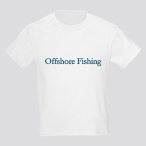 Offshore Fishing - text Kids T-Shirt