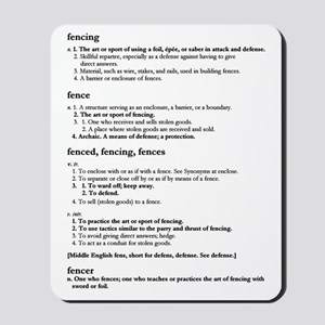 Fencing Defined - Mousepad