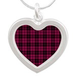 Tartan - Campbell of Loch Laine Silver Heart Neckl