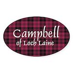 Tartan - Campbell of Loch Laine Sticker (Oval 10 p