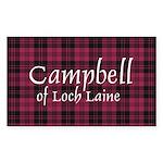 Tartan - Campbell of Loch Laine Sticker (Rectangle
